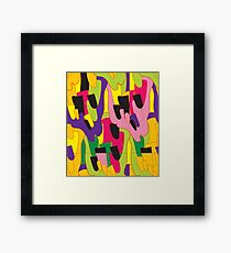 Abstract bright colorful vector pattern Framed Print