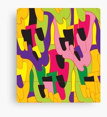 Abstract bright colorful vector pattern Canvas Print