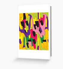 Abstract bright colorful vector pattern Greeting Card