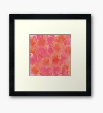 Soft Rose Bouquet Abstract Framed Print