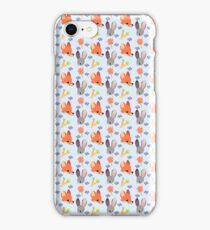 Dumb Bunny, Sly Fox (Blue) iPhone Case/Skin