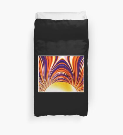 Color and Form Abstract - Solar Gravity and Magnetism 4 Duvet Cover
