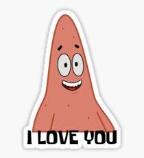 Patrick Loves You - Spongebob Sticker