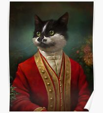 The Hermitage Court Waiter Cat Poster