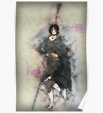 Maiden in Black Posing Poster