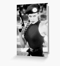 CAMMY STREET FIGHTER KYLIE MINOGUE Greeting Card
