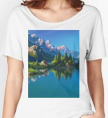 North America Landscape Women's Relaxed Fit T-Shirt