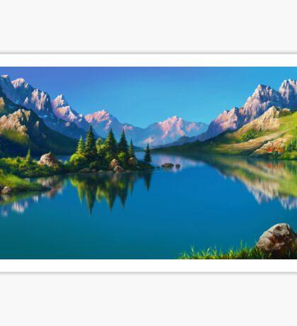 North America Landscape Sticker