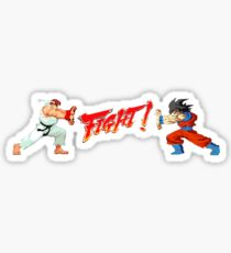 Ryu Vs Goku Sticker