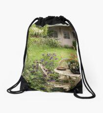Disheveled little garden! Drawstring Bag