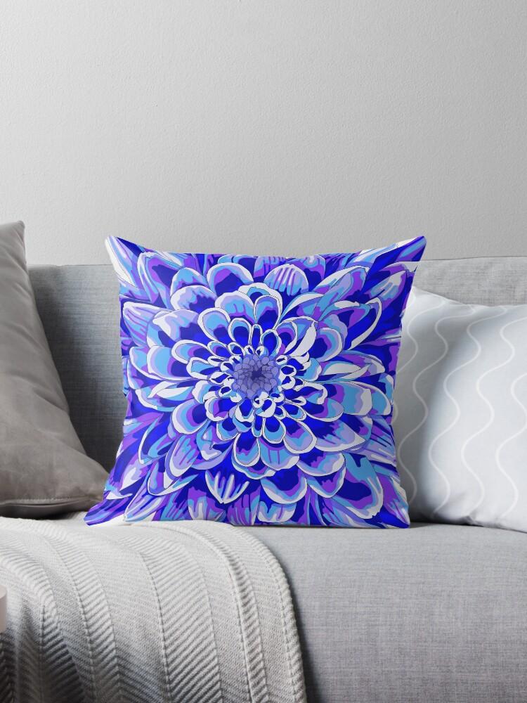 Deep Blue Throw Pillows :