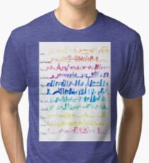 Skylines Across the World  Tri-blend T-Shirt