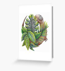 Lucky Lizard  Greeting Card