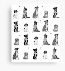 Dogs Dogs Dogs Dogs Dogs Metal Print