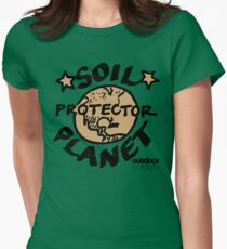 Soil Planet Protector Womens Fitted T-Shirt