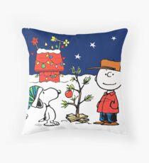 Charlie Christmas Tree Throw Pillow