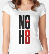 NOH8! Women's Fitted Scoop T-Shirt