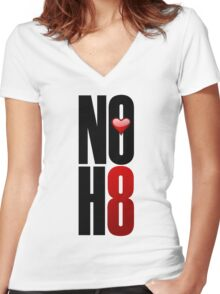 NOH8! Women's Fitted V-Neck T-Shirt