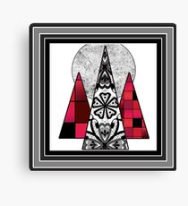 Art design geometric pattern in black,grey and red tones. Canvas Print