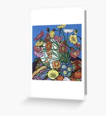 Poppies and Plates Greeting Card