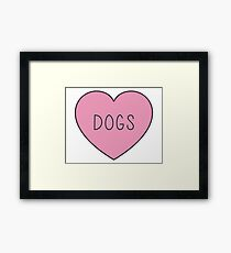 DOGS Framed Print