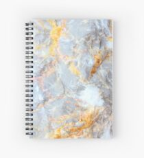 Grey & Gold Marble Spiral Notebook