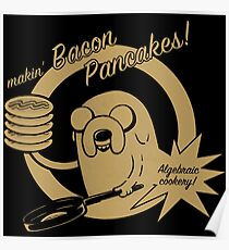 makin bacon pancakes Poster
