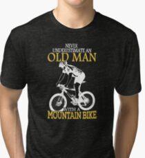 Never Underestimate an old man Tri-blend T-Shirt