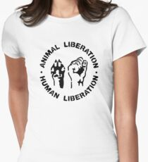 animal Liberation Women's Fitted T-Shirt