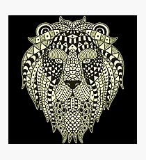 Ethnic Lion Photographic Print