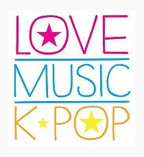 LOVE MUSIC K-pop Photographic Print