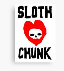 Sloth Love Chunk Canvas Print