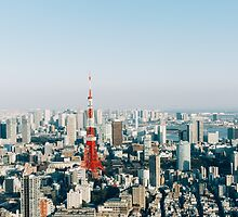 Tokyo Cityscape With Tokyo Tower on Sunny Day by visualspectrum