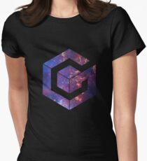 Galaxy Cube Womens Fitted T-Shirt