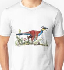 Sinornithosaurus with flowers Unisex T-Shirt