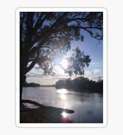 Sunset on the Murray (in Australia) Sticker