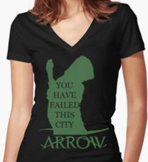 Arrow Hero 2 Women's Fitted V-Neck T-Shirt