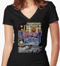 Haunted mansion inspired  Women's Fitted V-Neck T-Shirt