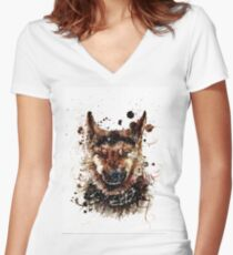 Mood Women's Fitted V-Neck T-Shirt