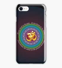 Om presence iPhone Case/Skin