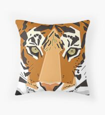 Graphic Tiger Throw Pillow