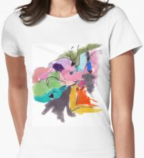 Abstract Figure Women's Fitted T-Shirt