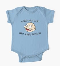 A Baby's Gotta Do What A Baby's Gotta Do - Rugrats Short Sleeve Baby One-Piece