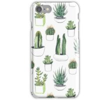 watercolour cacti and succulents iPhone Case/Skin
