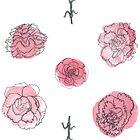 Pink Carnation Pattern by Vicky Webb