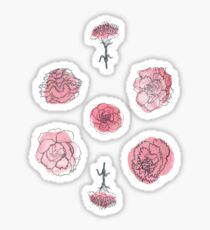 Pink Carnation Pattern Sticker