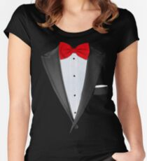 Realistic Tuxedo Shirt Women's Fitted Scoop T-Shirt