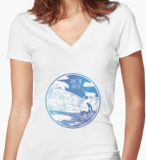 Save the Arctic! Women's Fitted V-Neck T-Shirt