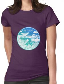 Save the Oceans! Womens Fitted T-Shirt