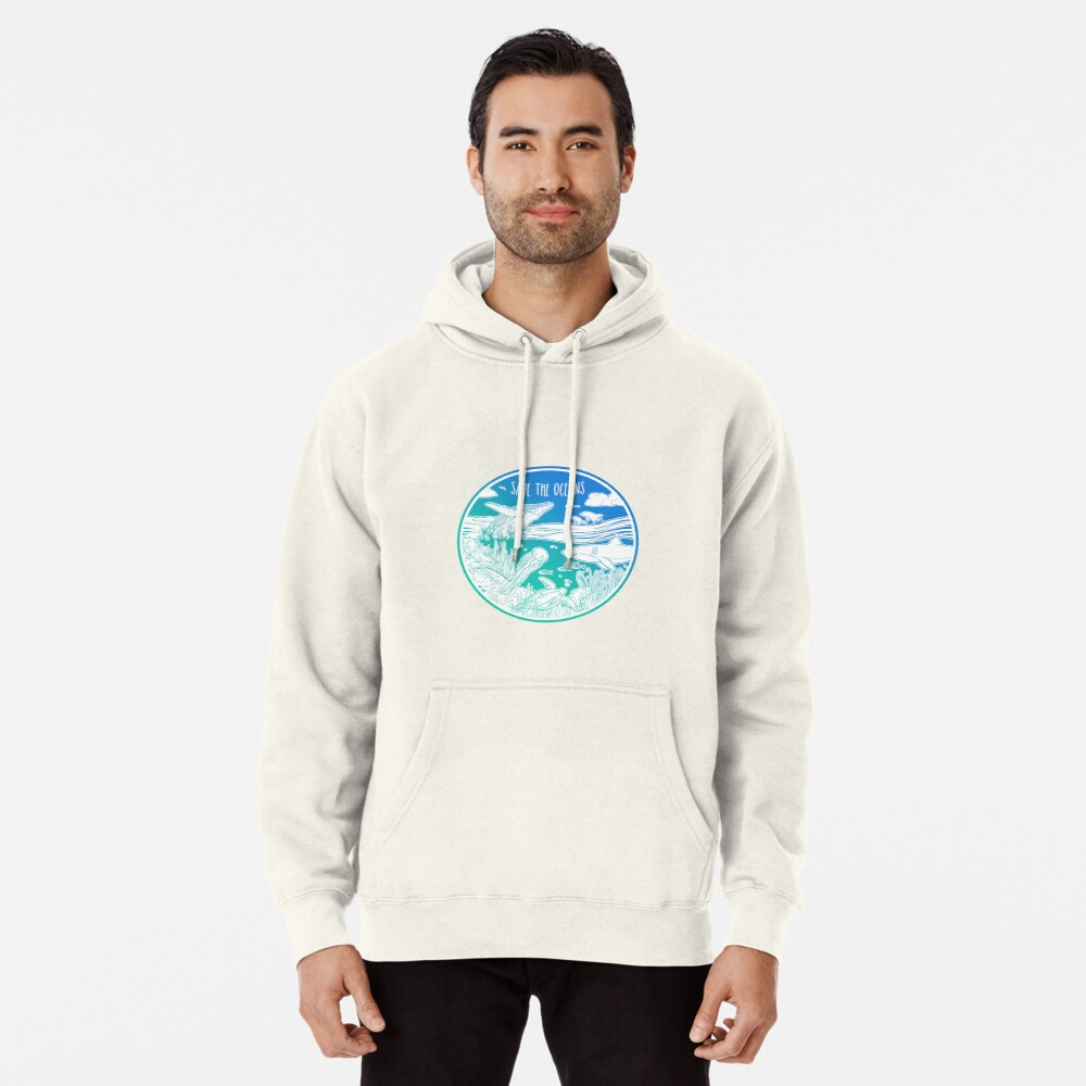 Save the Oceans! Pullover Hoodie